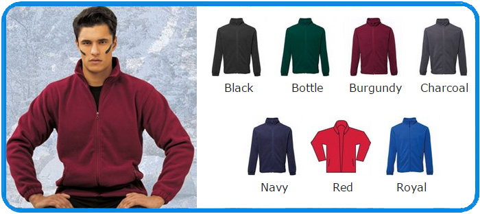 2786 brand fleece jackets colour chart