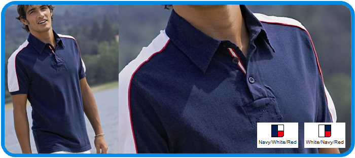 bi colour contrast polo shirt