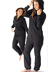 black full top and botton onesie