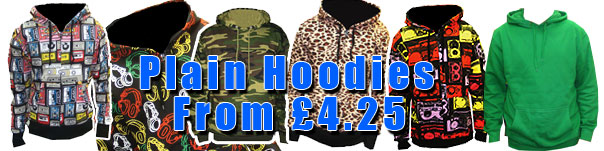Wholesale Hoodies £4.25 Cheap Hoodies, Zip up Hoodies