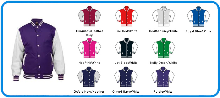 kids purple with white letterman colour chart