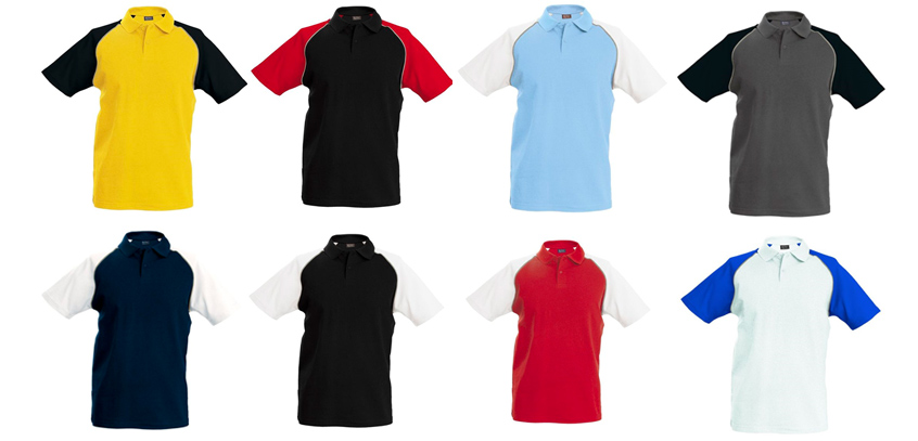 baseball colour chart polo