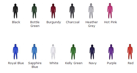 comfy co colour chart for kids onesie