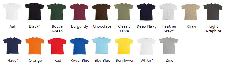 Colour Chart For Ss044