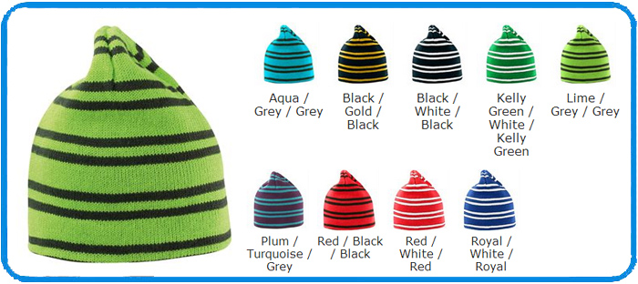 colour chart pin striped hat