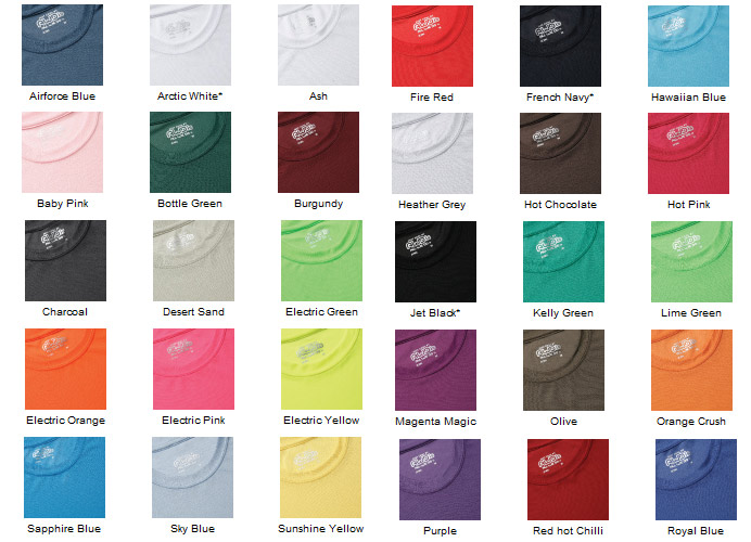 AWD Just Cool 100% Polyester t shirt 30 colours JC001