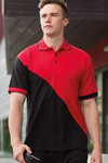 diagonal contrast cheap pique polo