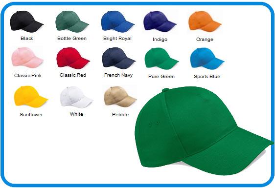 Ultimate 100 Cotton Drill Caps In 13 Colour Choice Bc015