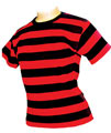 buy rock striped skinny fit t-shirt for ladies