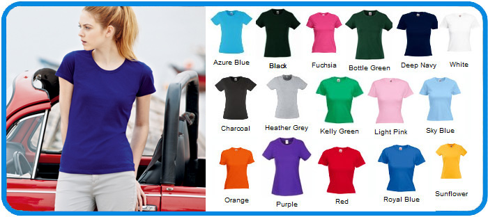 fruit of the loom ladies t shirts