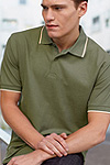 fotl tipped contrast polo
