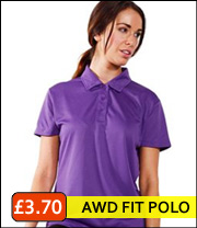 AWD ladies polyester polo