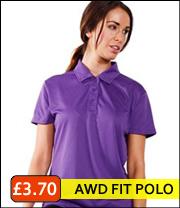 AWD ladies polyester polo