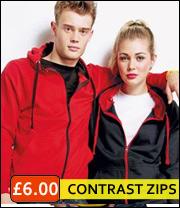 contrast zip hoodie