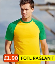fruit of loom raglan tee
