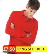 long sleeve pique polo top