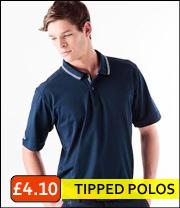 tipped collar pique polo shirts
