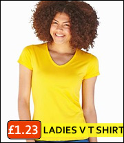 v neck ladies tees