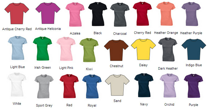 Softstyle women 39 s gildan fitted ringspun tees gd072 for Gildan brand t shirt size chart