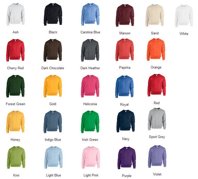 Gildan G Color Chart