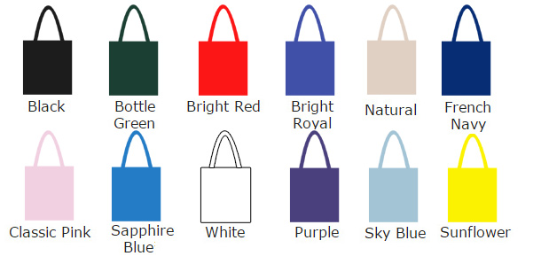 colour charge for cotton totes
