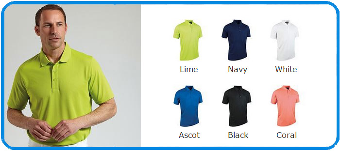 glenmuir polyester polo colours