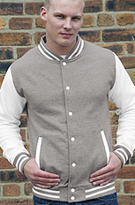sports grey with white sleeve letterman jacket