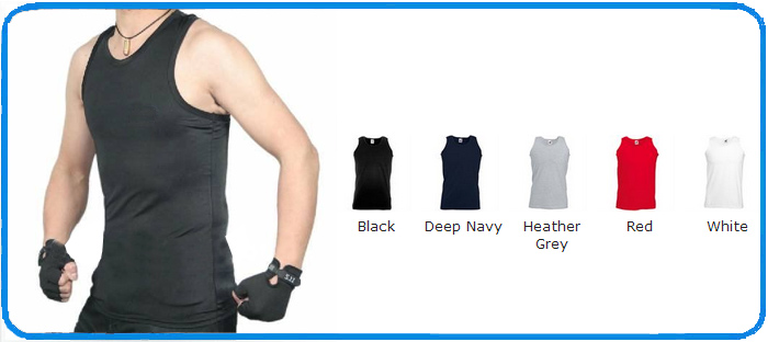 colour chart gym muscle cotton vests