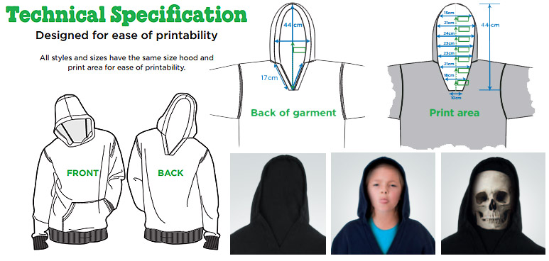 back hood specification for gimmik hoody