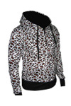 punk leopard zip up hoodies