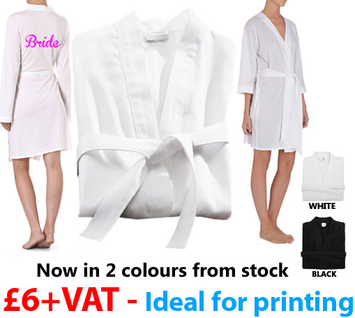 single jersey wedding kimono bathrobe