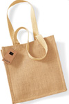 natural just jute compact bag