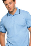 cheap tipped polo contrast