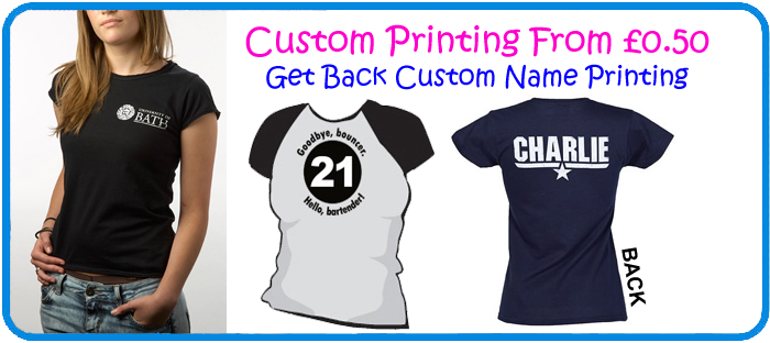ladies custom tshirts printing