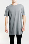 longer length cotton t shirt