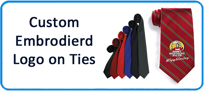Personalised ties with company logo
