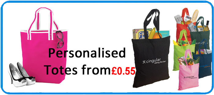 Tote Bags, £1 Personalised Cotton Canvas Wholesale Tote Bags