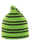 pin striped contrast reversible beanie