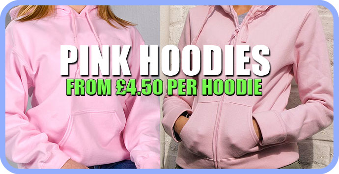 Hot Pink colour plain hoodie for ladies, Pink womens hoodies