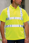 plain high vis polo