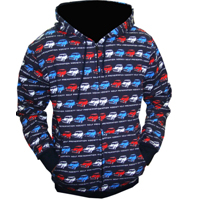 mini hoody zip up sweatshirts