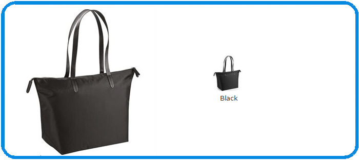 black polyester riviera totes