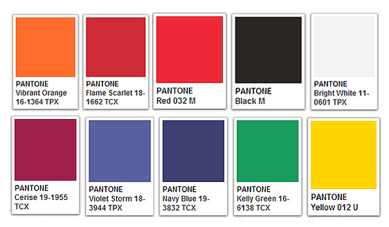 rutlands pantone colour chart
