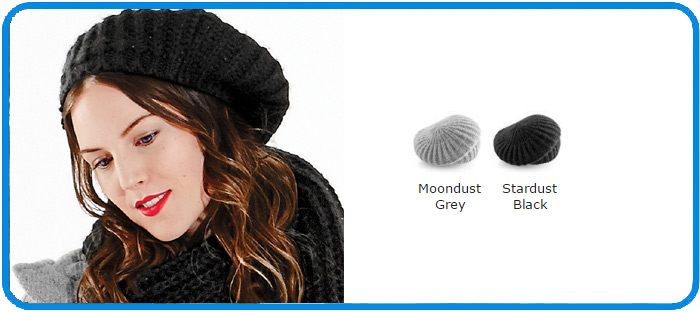 stylish shimmer beret