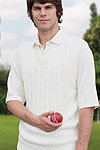 white colour Sleeveless cricket sweater