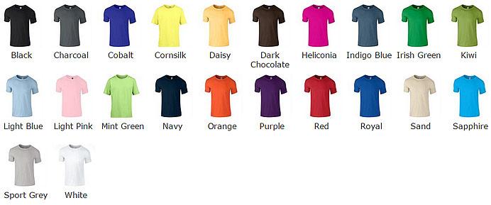 Softstyle Youth Kids Gildan Cotton T Shirts Gd01b