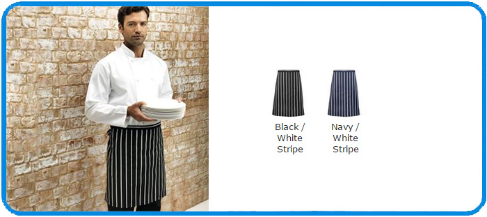 butcher half striped apron