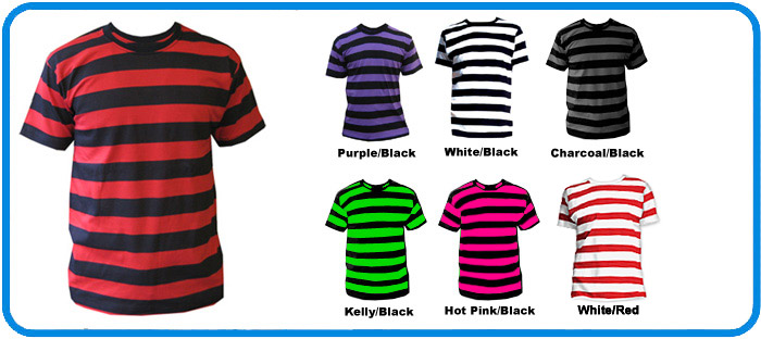 90bd7976a6 Trendy Contrast Horizontal Striped T Shirt ES-310