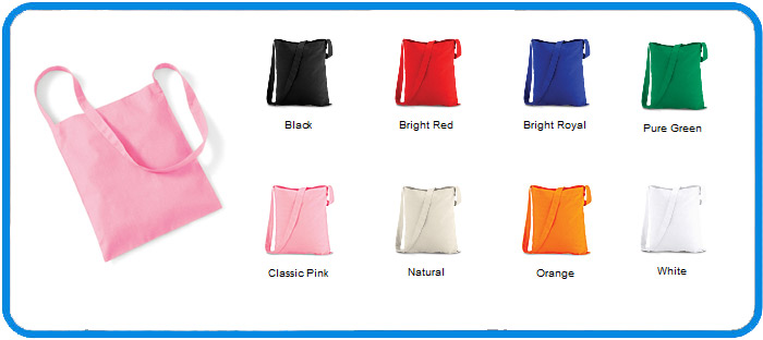 basic sling tote bag in 8 colours