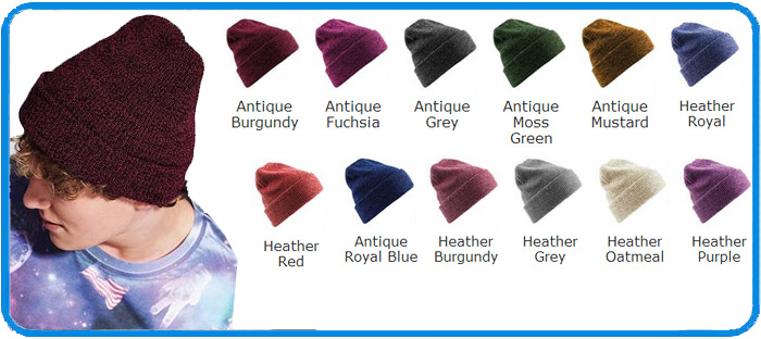 235a9544 Acrylic made Heritage Beanie in 12 colours from stock BC425